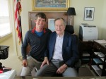 Our 41st commander in chief, President George H.W. Bush. A surreal afternoon, and an honor