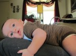 Baby Lark on mama Izzy!