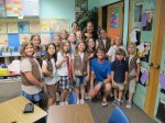 Brownie Troop #1361 (rockstars), with friends and hosts Leslie and Jessica Chatham