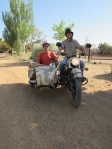 Archie shuttles me back in style, Cerrillos, NM