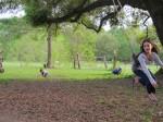 Monica rocks the swing