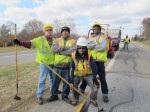 "The crew ""crack-filling"" outside of Bedford, VA, great guys"