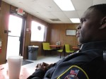 Officers Tubbs and Clark take me to lunch