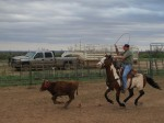 Roping at Danny and Tania Vernon's home in Post, TX