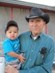 Don Thompson and grandson Trey