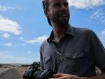 Marcel stops to say hey outside Ganado, AZ (visit his blog: sporadicnomadic.blogspot.com)