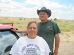 Christine and Anderson, two of the many kind-hearted who stopped to help on Navajo rez