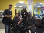 The men at the barbershop in Auburn, AL