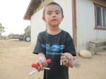 Braylon and his tools, Jeddito, AZ