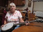 Nanny whips out the banjo