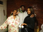 Corey Mosely, Lynee Michelle, and family take me in outside Baltimore