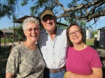 Nena, Jerald, and Tish Wilson, hosts in Novice, TX