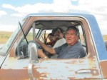 Merril, Derrick, and Jarold help out on the long stretch to Tuba City, AZ